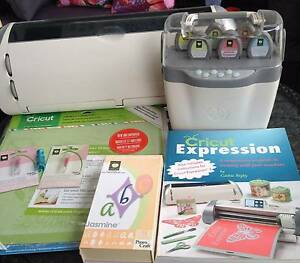 CRICUT EXPRESSION + JUKE BOX + CARTRIDGES + CARRY BAG ++++ Arrawarra Coffs Harbour Area Preview