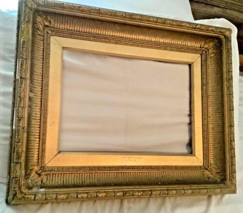 VINTAGE ANTIQUE ORNATE Painting art PICTURE FRAME GOLD GILT GESSO WOOD