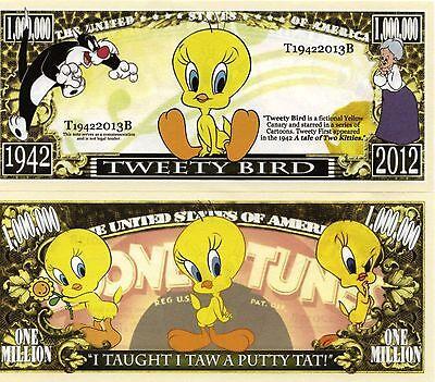 Tweety Bird - Looney Tunes Cartoon Character Million Dollar Novelty Money
