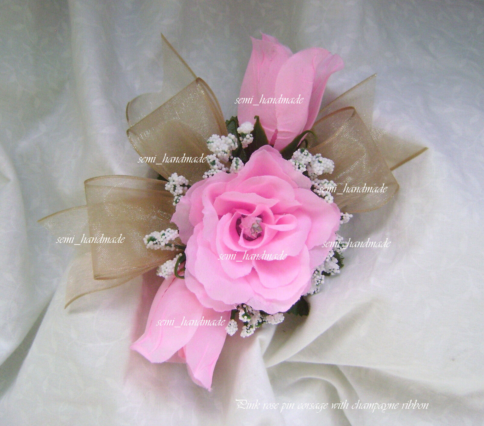 White~Ivory~Pink~Gold~Blue~Black~Silver~Champagne~Rose~Wrist~Pin ...