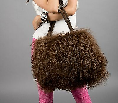 New large real long lamb fur/mongolian fur bag handbag on sale(multi colors)