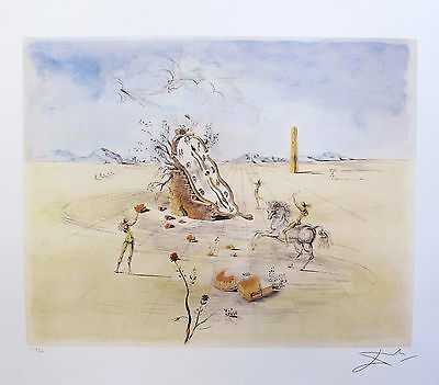 Salvador Dali COSMIC HORSEMAN Signed Limited Edition Lithograph Art