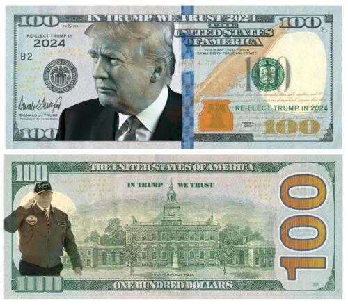 100 pack In Trump We Trust 2024 Updated Dollar Bills Funny Money Maga