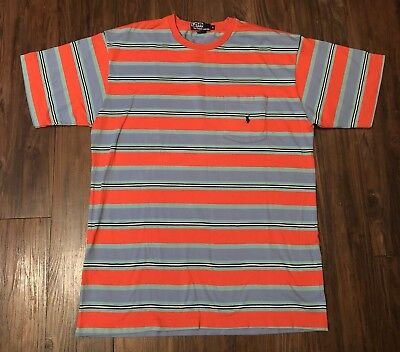 VTG 90s Polo Ralph Lauren Stripe Pocket T Shirt Chucky Single Stitch USA L 92 67](Chucky Shirt Stripes)