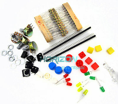 Electronic Parts Pack Kit For Arduino Component Resistors Switch Button Best