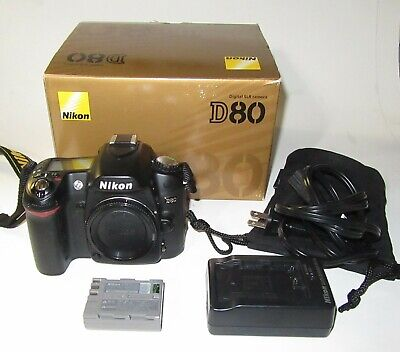 Nikon 254122176 D80 Digital SLR Body Only Camera battery & charger w/ERR AS IS for sale  Shipping to India