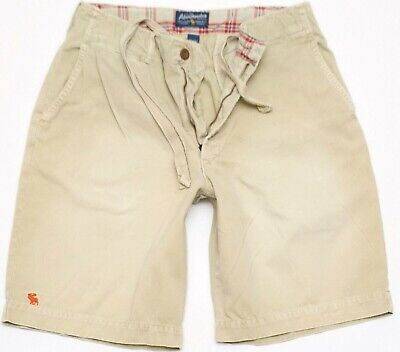 Abercrombie & Fitch Shorts Men's Size 30 Khaki Drawstrings - Nice!
