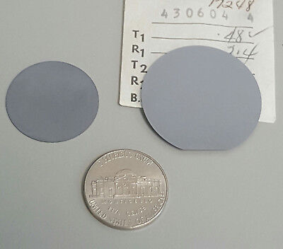 Two Historic Silicon Wafers 1950s - Early 1960s 0.95 Inch And 1.25 Inch