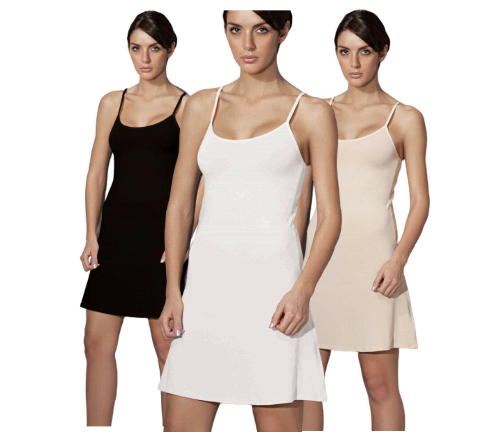 Doreanse Damen Unterkleid verstellbare Träger Mini Nachtkleid Modal D11128