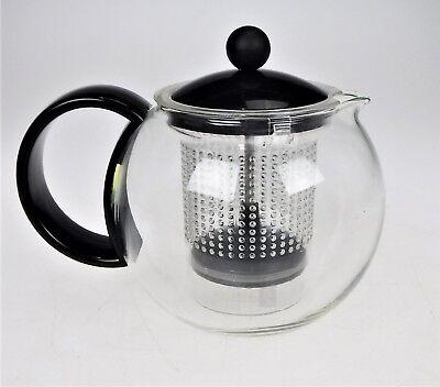 BODUM Assam Tea Press Pot Glass French Press Loose Tea Infuser 1L/4 cup Assam 4 Cup Tea Press