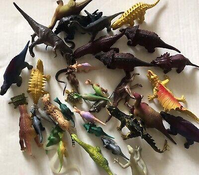 30 Realistic Looking Little Dinosaur - Plastic Assorted Dinosaur Figures