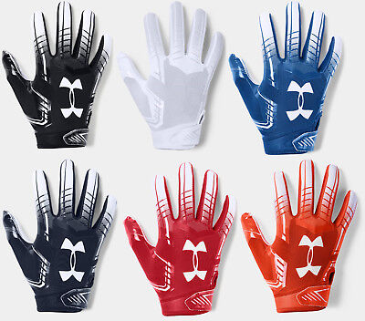 Under Armour Boys UA 2019 F6 Youth Football Receivers Gloves Running Back -