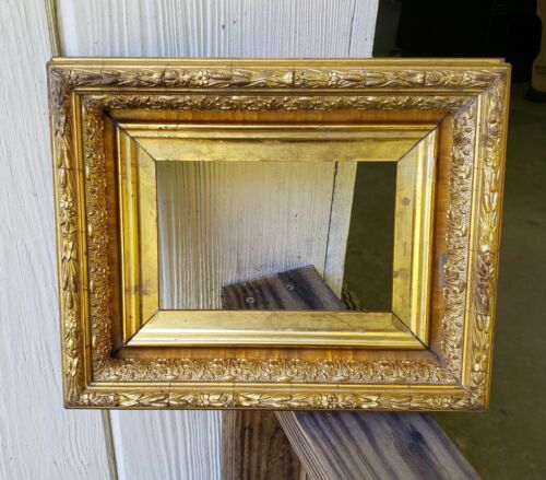 c1880 Excellent Miniature Victorian Gilded Compo Painting 4 5/8 x 6 3/4 Frame