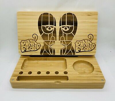 Pink Floyd division bell laser engraved bamboo high quality rolling tray