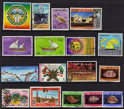 Oman Small Postally Used Lot 1979-1996 CV $25