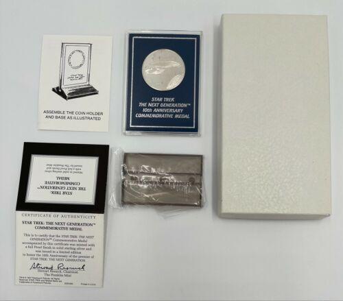 Star Trek The Next Generation 10th Anniversary Commemorative SILVER Medal