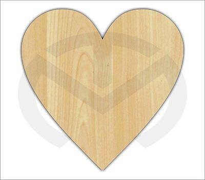 Unfinished Wood Heart Laser Cutout, Wreath Accent, Door Hanger, Ready to Paint