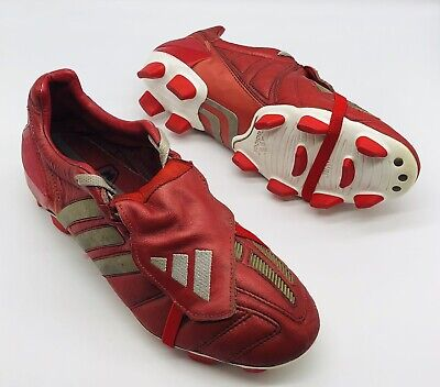 2002 ADIDAS PREDATOR MANIA FIRM GROUND RED UK SIZE 10.5 US 11 FOOTBALL BOOTS