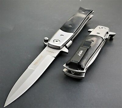 TAC FORCE SPRING ASSISTED TACTICAL STILETTO POCKET KNIFE Blade Assist Open 8.5""