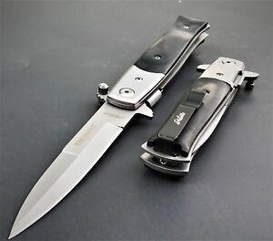 TAC FORCE SPRING ASSISTED TACTICAL STILETTO POCKET KNIFE Blade Assist Open 8.5