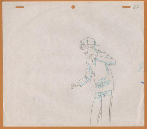 Golden Boy Prod Drawing Sketch cel anime #100 Kintaro super surprised