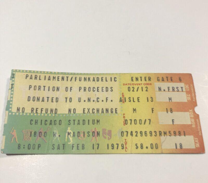 Parliament Funkadelic Rare Concert At Chicago Stadium 1979 Ticket Stub