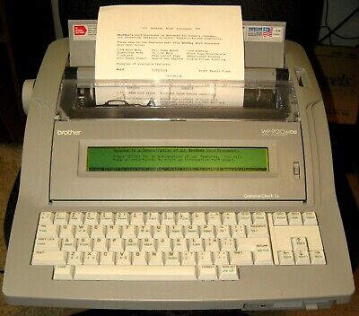Ca 1995 Portable Electronic Brother Wp-900mds Word Processor Typewriter Nice