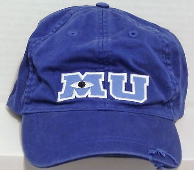 Walt Disney Monsters Inc University M U MU Blue Baseball Hat Cap Adult BRAND NEW](Monsters Inc Hat)