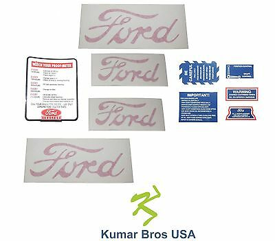 New Ford 2n 8n 9n Tractor 8n5052 Decal Set With Proof Meter