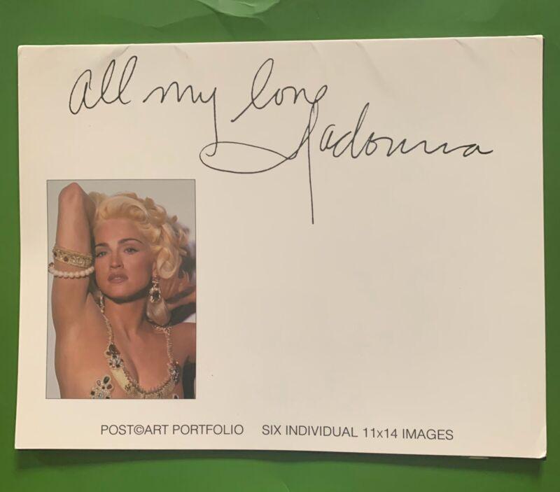 Madonna Rare Giant Postcard Set