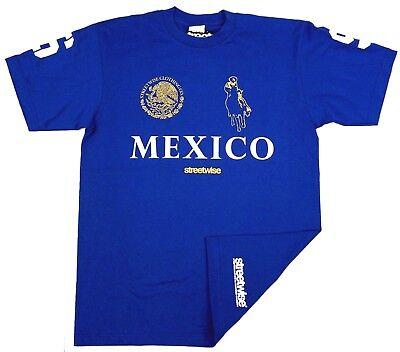 STREETWISE NARCO POLO T-shirt Urban Streetwear Tee Adult Mens Royal Blue -