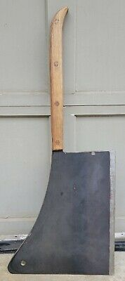 Old Vtg Hog Splitter Butcher Knife Cleaver Carbon Steel Massive 35lb Monster!!!