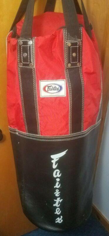 Fairtex Classic Heavy Bag Black/Red Unfilled