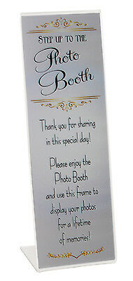 Slanted Photo Booth Frames with Inserts 2x6 acrylic