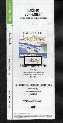 Amtrak Caltrans Lossan Pacific Surfliner Timetable 10 2015