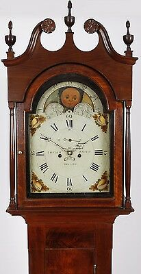 Josiah Smith Reading PA C 1820 Walnut Sheraton 8 day Tall Case Grandfather Clock