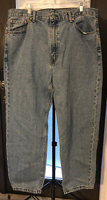 Levis 550 Mens Blue Jeans 42 x 32 Relaxed Light Wash EUC