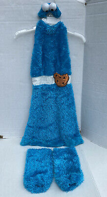 Girls Halloween Costume Sesame Street Workshop Cookie Monster Dress Sz XL 14-16