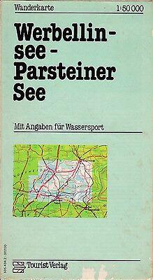 Wanderkarte der DDR, 1:50.000, Werbelinsee - Parsteiner See, Tourist Verlag