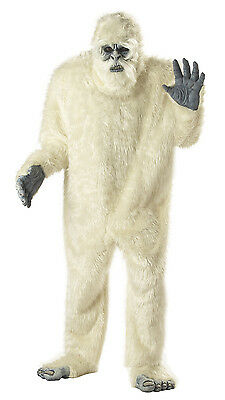 Adult Abominable Snowman Full Suit Costume One Size (Abominable Snowman Adult Costume)