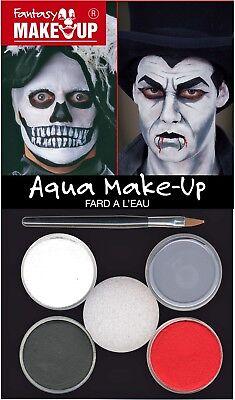 Halloween Make (Aqua Make-Up Set Vampir Zombie Tod Schminke Horror Halloween)