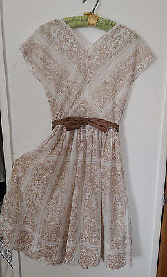 VTG* early 60's goddess print* sheer sundress* Size M* Roman Holiday* rockabilly