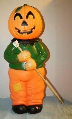 """1995 Union Halloween Don Featherstone Jack O Lantern Scarecrow Blow Mold - 31"""""""