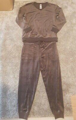 WOMENS Jezebel Ultra Luxe Velour Loungewear - 2 Piece Set Grey L UK size 10-12