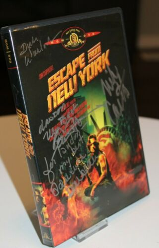 Escape from New York DVD signed by Barbeau, Atkins, Warlock, Castle - Halloween!