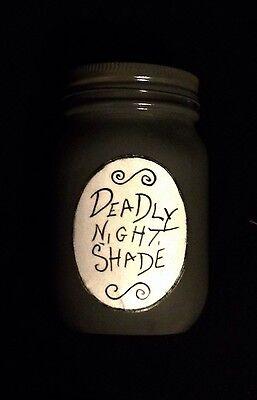 The Nightmare Before Christmas Deadly Nightshade Mason Jar