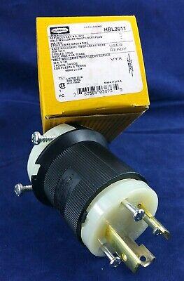 Hubbell Hbl2611 Twist Lock 30 Amp 125 Volt Plug. New