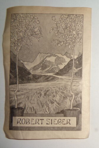 Robert Sieger Ex Libris Bookplate