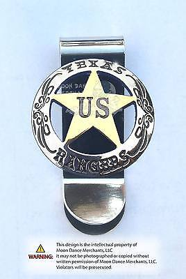 Western Decor Unique Cowboy ~TEXAS RANGERS~ Concho Money Clip