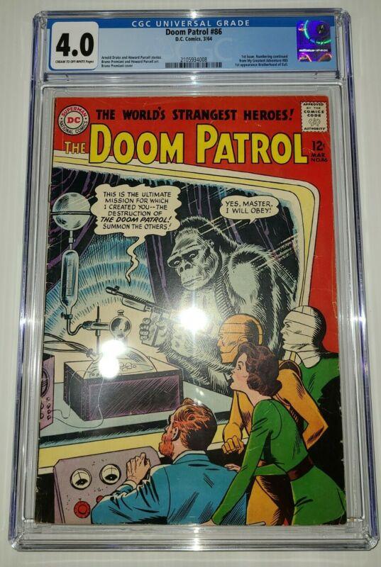 DC Comics Doom Patrol #86 CGC 4.0 1ST ISSUE